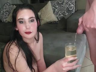 drinking piss after cum facial