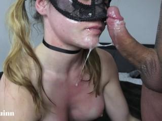 Mya Quinn face fuck pissing cum swallow
