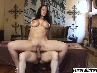I drilled Carmella Bing experience her big breasts fat ass fucked
