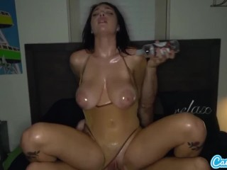 Camsoda Gabbie Carter Oiled Up Fucked and Sprayed With Cum
