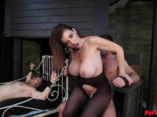 Sara Jay Uses Her Two Male Sex