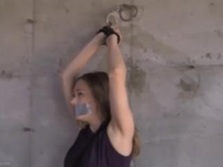 Self Bondage Predicament - Star Nine Handcuff Damsel In Distress TRAILER