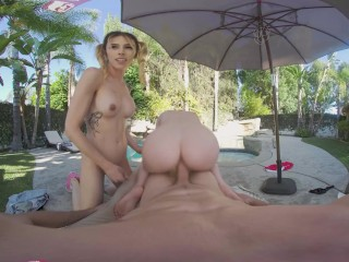 VRB TRANS Passionate Threesome Fantasy With Amazing Cheerleaders VR Porn