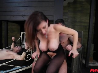 MILF Sara Jay Uses Her Young Male Sex Slaves Alex Adams + Lance Hart