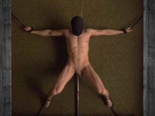 Fucking Machine Prostate Milking 4 Orgasms Hands-free Restrained Femdom