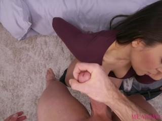 Cheating Brunette Sucks and Fucks Stranger POV- Meana Wolf - Bad Girlfriend