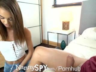NANNYSPY Nanny chooses to fuck to keep her job