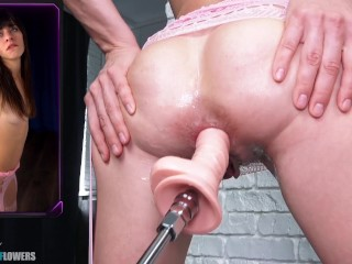 Sex Machine Destroyed my Asshole.I cant stop Squirting