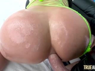 TRUE ANAL Angela White has her booty fucked yet again
