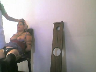 Dirty Hollowen lether face bondage school girl live webcam show