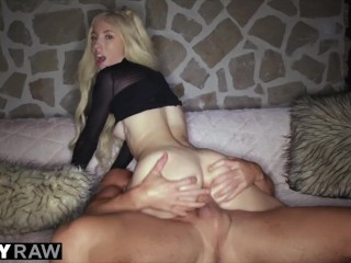 TUSHYRAW Tiny & tight Blonde gets her asshole stretched out