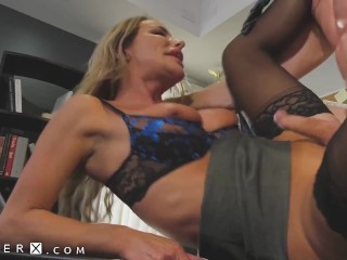 GenderX - Guy Fucked By Trans Boss To Save His Job