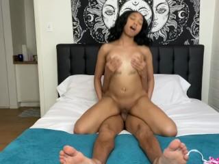 19 year old lightskin ebony baddie fucks boyfriend off 2K