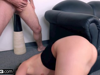 BANG Casting - Gia Paige Throat fucked & Loving it!