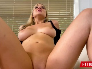 FIT18 - Blake Blossom Returns For 2nd Casting Showing Off Her Big Natural Breasts And Thicc Body