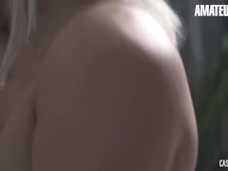 AmateurEuro - Slutty French Hottie Laurie Cums Hard At Her Porn Audition