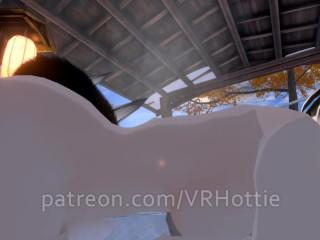 Nude Dragon Girl Face Rides You At Hot Spring White Black Hair Tail Play Sensual POV Lap Dance