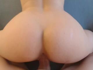 Mature plays with ass