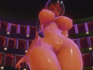 Thicc anime girl twerking