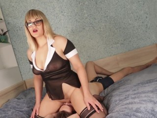 Teacher makes Student pussy licking for a Good School marks