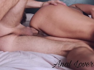 YOUNG STUDENT GETS ASS DESTROYED WITHOUT CONDOM AND SCREAMS IN PAIN - Anal lover 4k